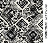 seamless textile  pattern print ... | Shutterstock .eps vector #695147050