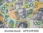 close up of australian dollar... | Shutterstock . vector #695149300