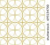 art deco seamless background.   Shutterstock .eps vector #695154700