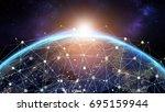 global network concept....   Shutterstock . vector #695159944