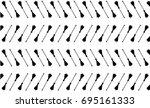 black broom on white background ... | Shutterstock .eps vector #695161333