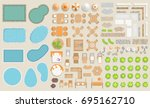 vector set of architectural... | Shutterstock .eps vector #695162710