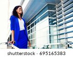 smiling young professional... | Shutterstock . vector #695165383