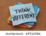 think different concept  ... | Shutterstock . vector #69516586