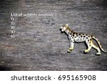 list of wild animals on image...
