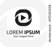modern abstract multimedia logo.... | Shutterstock .eps vector #695181028