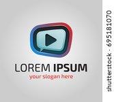modern abstract multimedia logo.... | Shutterstock .eps vector #695181070