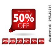 red tag special offer discount... | Shutterstock .eps vector #695181964