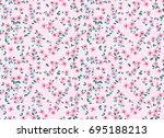 floral pattern. pretty flowers... | Shutterstock .eps vector #695188213