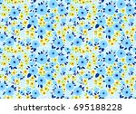 vintage floral background.... | Shutterstock .eps vector #695188228