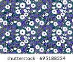simple cute pattern in small...   Shutterstock .eps vector #695188234