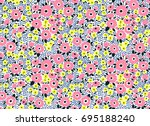 Stock vector cute floral pattern in the small flower ditsy print seamless vector texture elegant template for 695188240