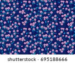 cute floral pattern in the... | Shutterstock .eps vector #695188666