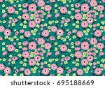 simple cute pattern in small... | Shutterstock .eps vector #695188669