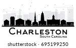 charleston south carolina city... | Shutterstock .eps vector #695199250