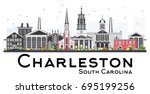 charleston south carolina...   Shutterstock .eps vector #695199256