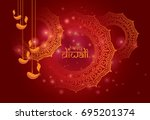 diwali festival background... | Shutterstock .eps vector #695201374