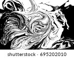 black and white liquid texture. ... | Shutterstock .eps vector #695202010
