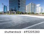 empty floor with modern... | Shutterstock . vector #695205283