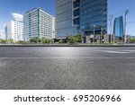 empty road with modern business ... | Shutterstock . vector #695206966