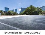 empty floor with modern...   Shutterstock . vector #695206969
