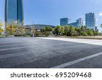 empty floor with modern... | Shutterstock . vector #695209468
