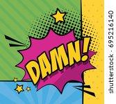 multicolor background pop art... | Shutterstock .eps vector #695216140