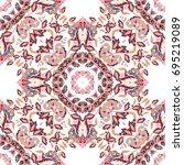 seamless floral pattern... | Shutterstock . vector #695219089