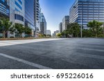 empty floor with modern... | Shutterstock . vector #695226016