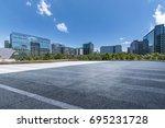 empty floor with modern... | Shutterstock . vector #695231728