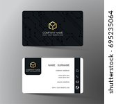 business card. inspired by... | Shutterstock .eps vector #695235064