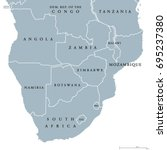 southern africa political map... | Shutterstock .eps vector #695237380