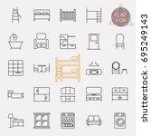 interiors furniture line icon... | Shutterstock .eps vector #695249143