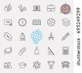 education line icon set | Shutterstock .eps vector #695249299