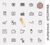 vintage retro line icon set | Shutterstock .eps vector #695249488