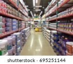 blurred store background ... | Shutterstock . vector #695251144