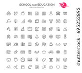 set of school and education... | Shutterstock . vector #695252893