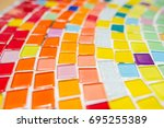 colorful mosaic flooring or... | Shutterstock . vector #695255389