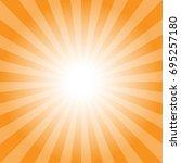 sun rays orange color... | Shutterstock .eps vector #695257180