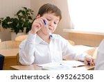 school student at the class  ...   Shutterstock . vector #695262508
