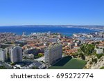 view on marseille  france | Shutterstock . vector #695272774