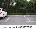 car parking lots in public... | Shutterstock . vector #695275738