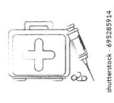 first aid kit   Shutterstock .eps vector #695285914