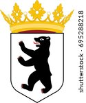 coat of arms of berlin is the... | Shutterstock .eps vector #695288218