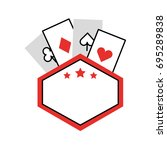 label with poker cards | Shutterstock .eps vector #695289838