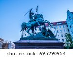 Statue Of The Saint George An...