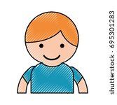 young boy avatar character   Shutterstock .eps vector #695301283