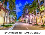 palm beach  florida  usa at... | Shutterstock . vector #695301580