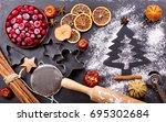 ingredients for cooking... | Shutterstock . vector #695302684
