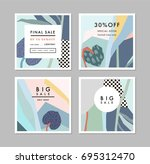 creative sale headers or... | Shutterstock .eps vector #695312470